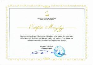 Certifikatë Humanitare